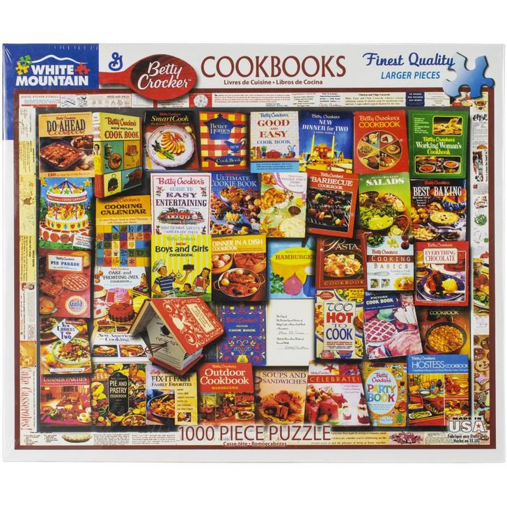 White Mountain 1000 Pc. Jigsaw Puzzle - Betty Crocker Cookbooks