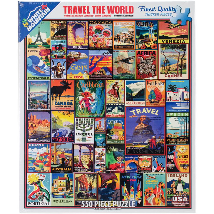 White Mountain 550 Pc. Jigsaw Puzzle - Travel The World