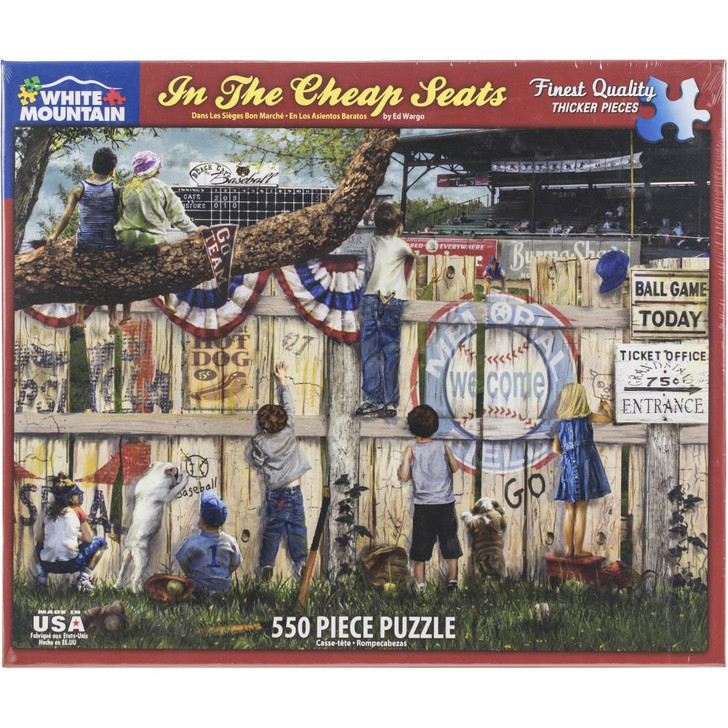 White Mountain 550 Pc. Jigsaw Puzzle - In The Cheap Seats