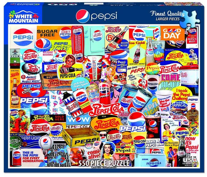 White Mountain 550 Pc. Jigsaw Puzzle - Pepsi