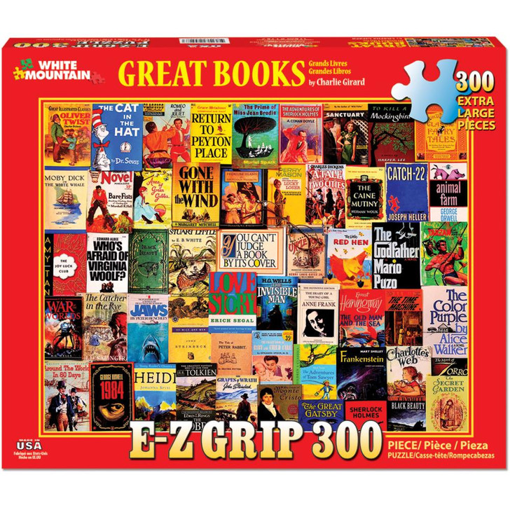 White Mountain 300 Pc. Jigsaw Puzzle - Great Books