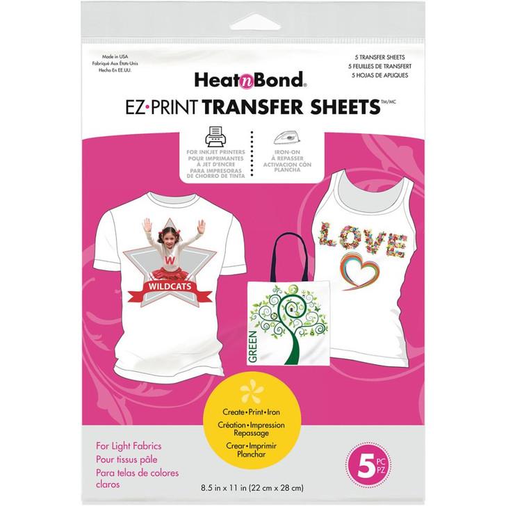 Thermoweb HeatnBond EZ Print Transfer Sheets - Light Fabrics