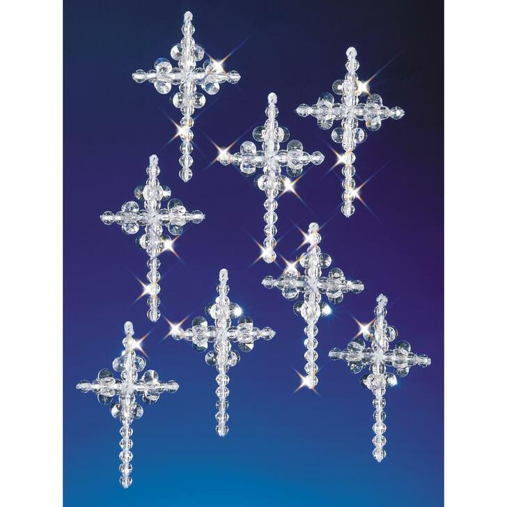 Beadery Holiday Beaded Ornament Kit - Crystal Crosses