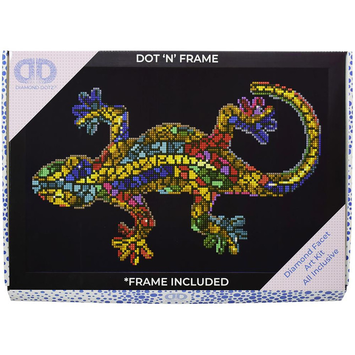 Diamond Dotz Facet Art Kit W/ Frame - Gekko Paua