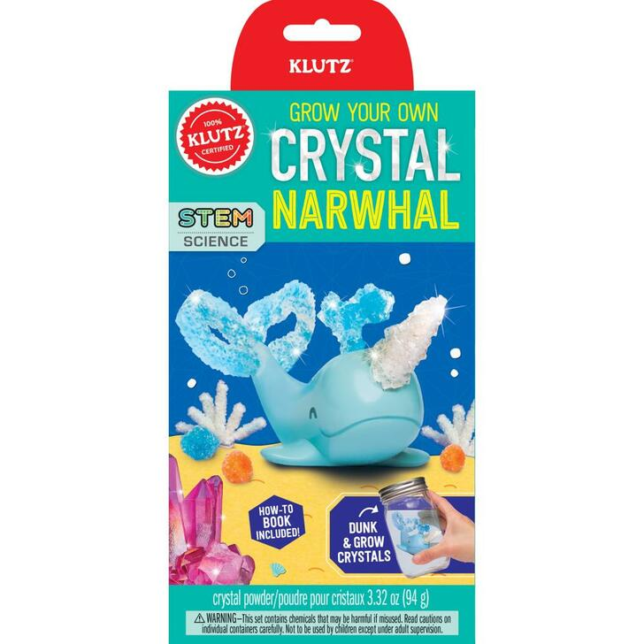 Klutz Grow Your Own Crystal Animal Kit - Narwhal