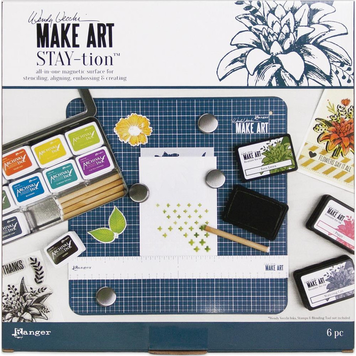 "Wendy Vecchi MAKE ART Stay-tion 12.5""x12.5"""