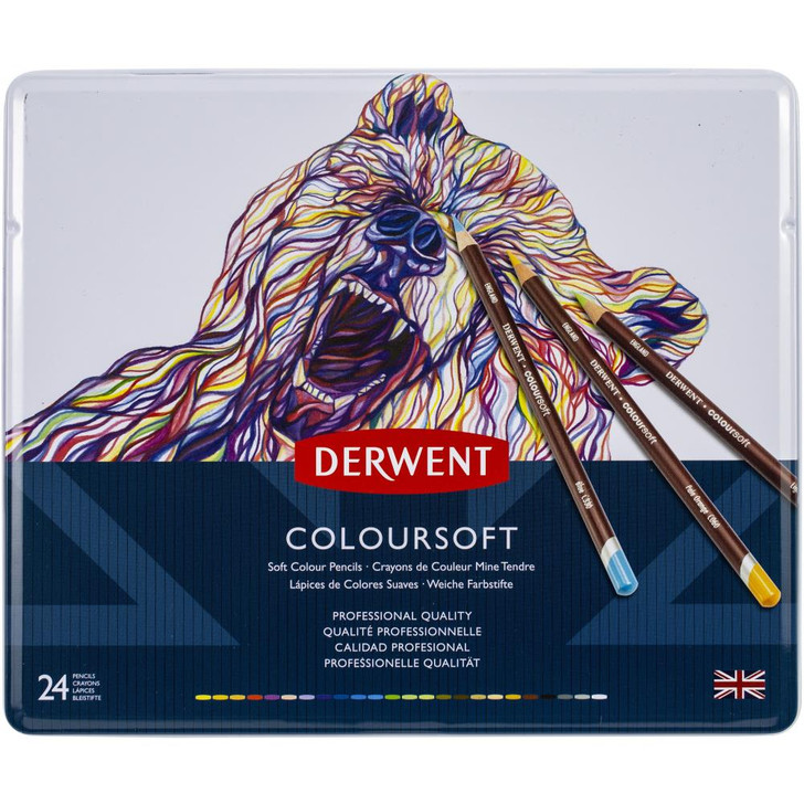 Derwent Coloursoft Pencil Tin 24/Pkg