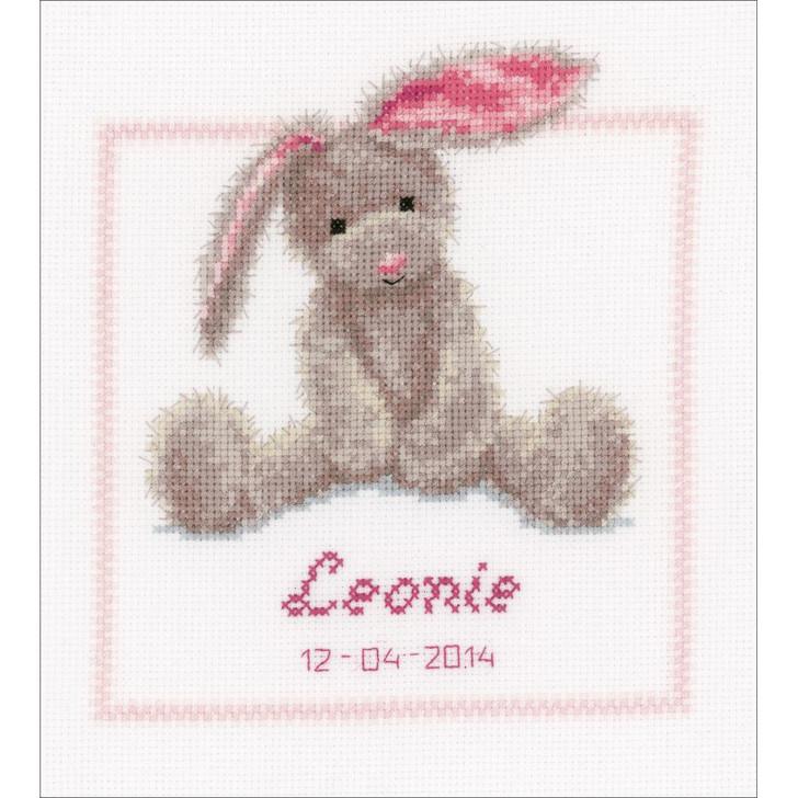 Vervaco Counted Cross Stitch Kit - Cute Bunny Birth Record