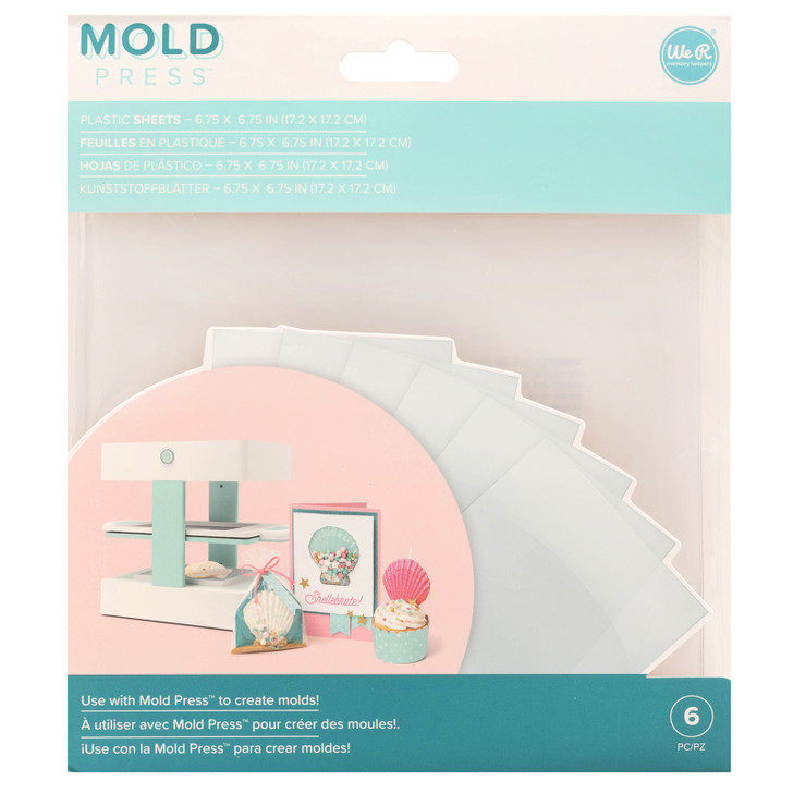 We R Memory Keepers Mold Press Clear Plastic Sheets 6/Pkg