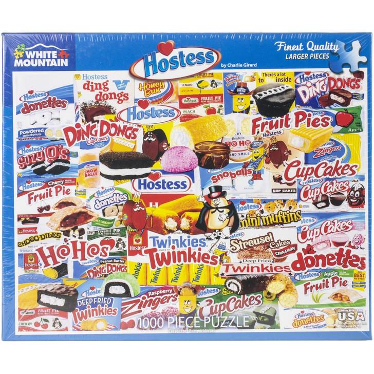 White Mountain 1000 Pc. Jigsaw Puzzle - Hostess