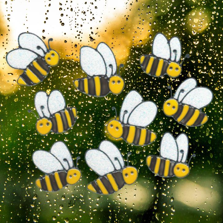 Bumble Bee Window Clings 9/Pkg