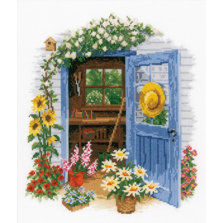 Vervaco Counted Cross Stitch Kit - Garden Shed