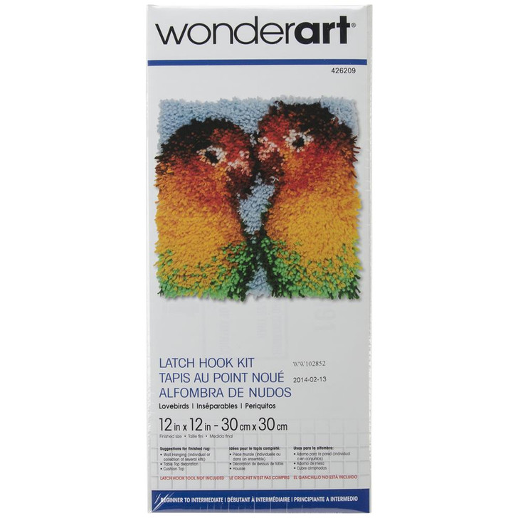 Caron Wonderart Latch Hook Kit - Lovebirds