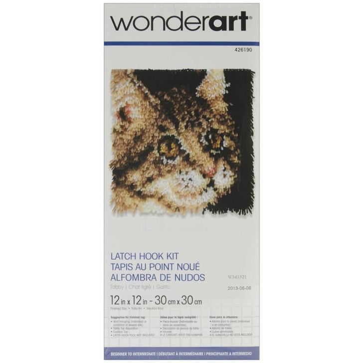 Caron Wonderart Latch Hook Kit - Tabby Cat