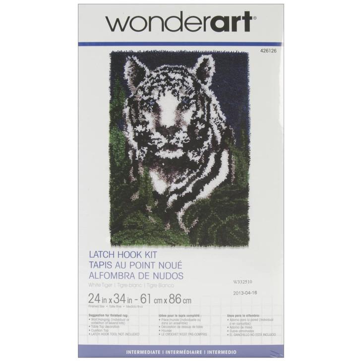 Caron Wonderart Classic Latch Hook Kit - White Tiger