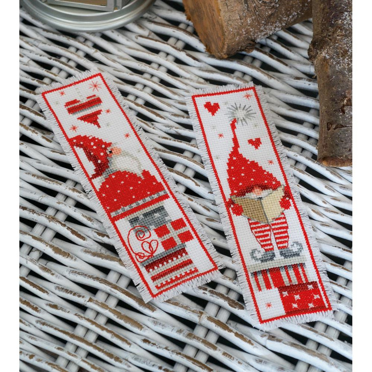 Vervaco Counted Cross Stitch Kit - Christmas Gnomes Bookmarks