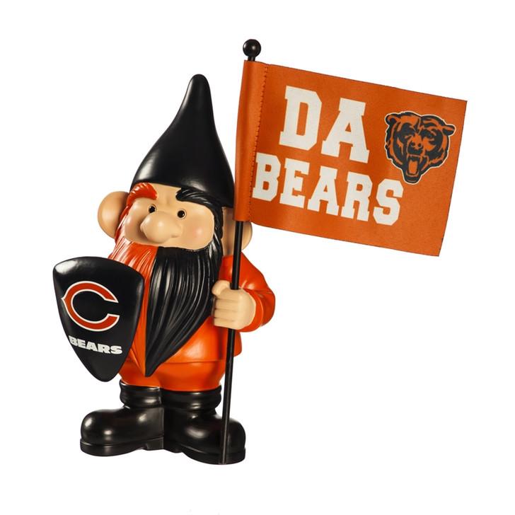 Team Flag Holder Gnome - Chicago Bears