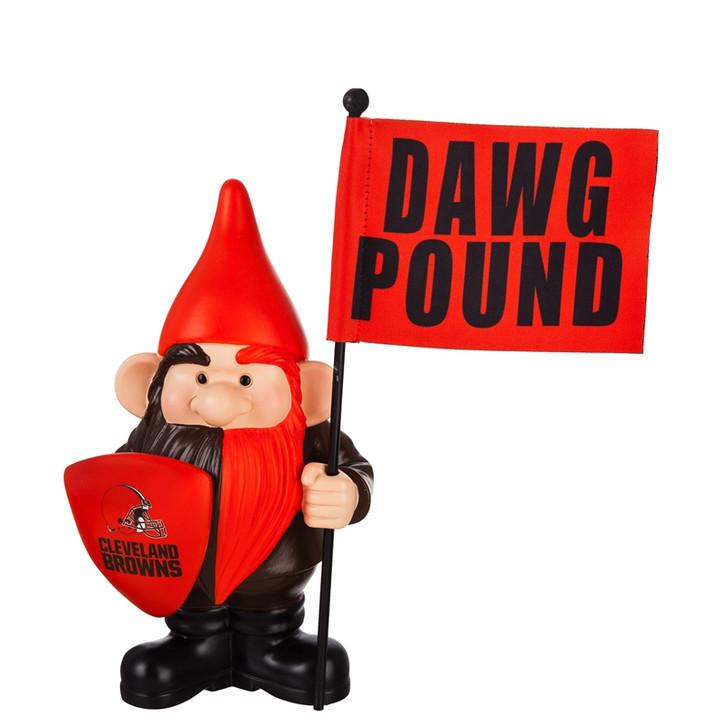 Team Flag Holder Gnome - Cleveland Browns