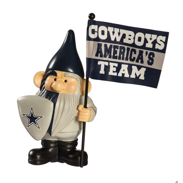 Team Flag Holder Gnome - Dallas Cowboys