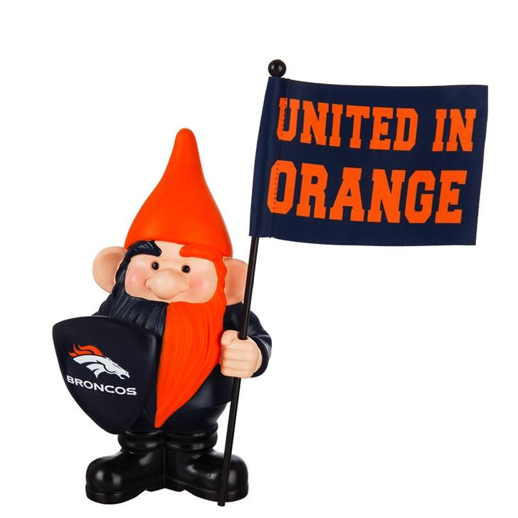 Team Flag Holder Gnome - Denver Broncos