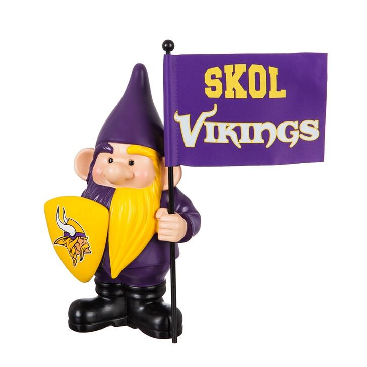 Team Flag Holder Gnome - Minnesota Vikings