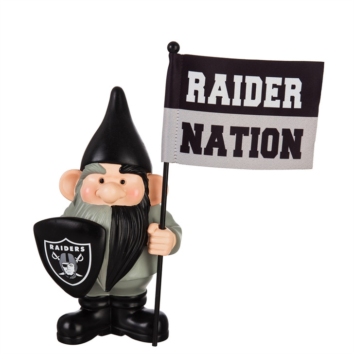 Team Flag Holder Gnome - Las Vegas Raiders