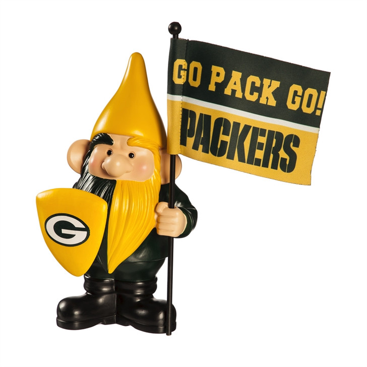 Team Flag Holder Gnome - Green Bay Packers