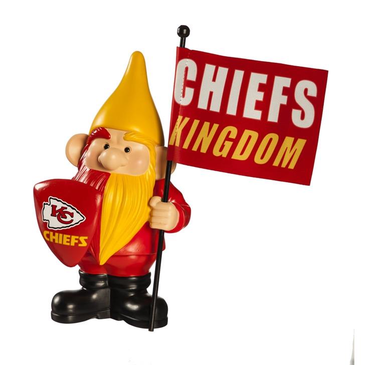 Team Flag Holder Gnome - Kansas City Chiefs