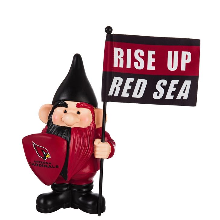 Team Flag Holder Gnome - Arizona Cardinals