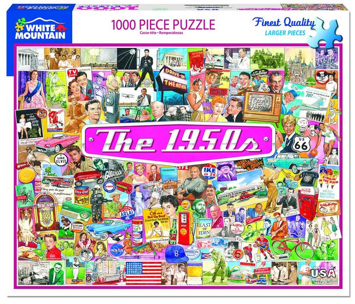 White Mountain 1000 Pc. Jigsaw Puzzle - The 1950's