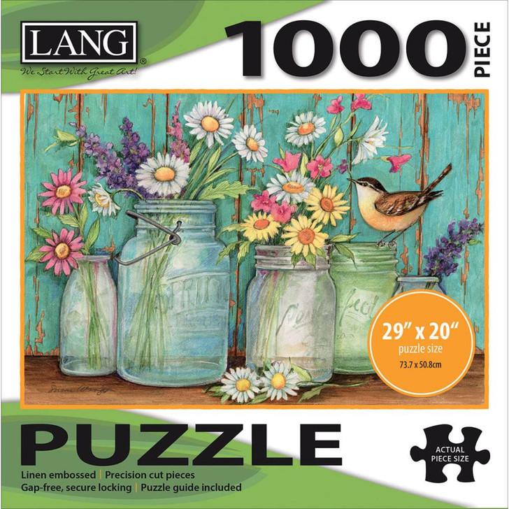 Lang Jigsaw Puzzle 1000 Pc. - Mason Jars