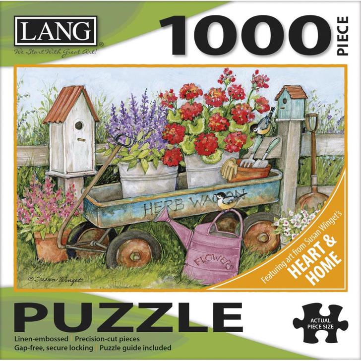 Lang Jigsaw Puzzle 1000 Pc. - Blue Wagon