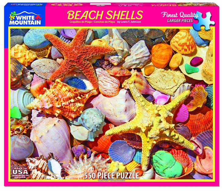 White Mountain Beach Shells 550 Pc. Jigsaw Puzzle