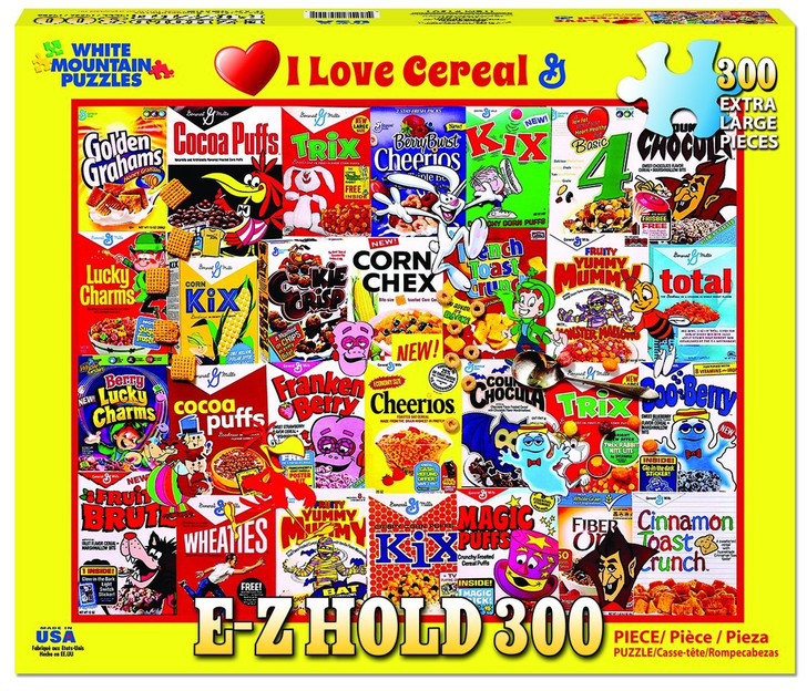 White Mountain 300 Pc. Jigsaw Puzzle - I Love Cereal
