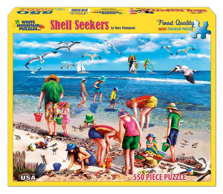 White Mountain 550 Pc. Jigsaw Puzzle - Shell Seekers