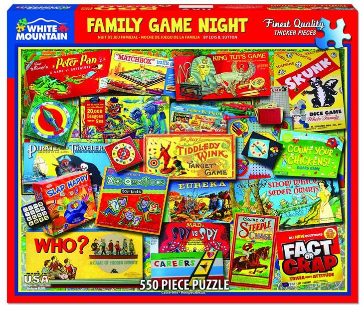 White Mountain Family Game Night - 550 Pc. Jigsaw Puzzle