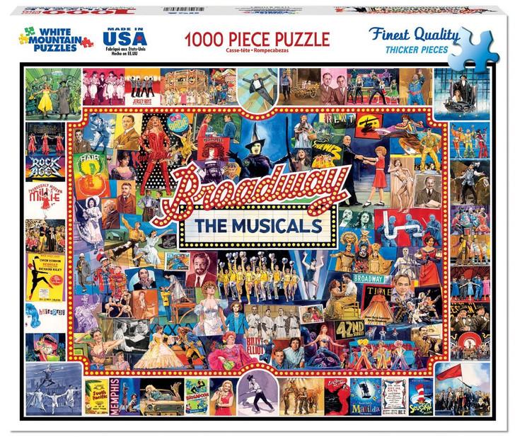 White Mountain 1000 Pc. Jigsaw Puzzle - Broadway