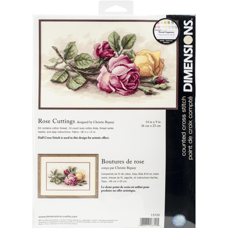 Dimensions  Counted Cross Stitch Kit - Rose Cuttings