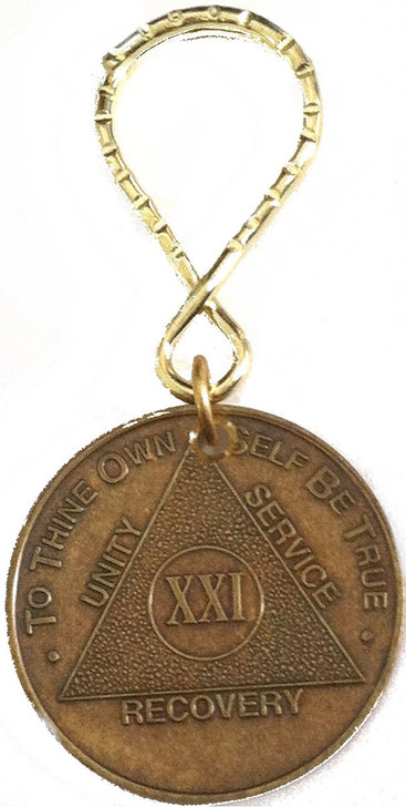 .AA Bronze Month/Year Key Tag