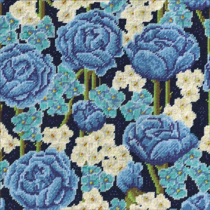 Design Works Needlepoint Kit - Blue Floral