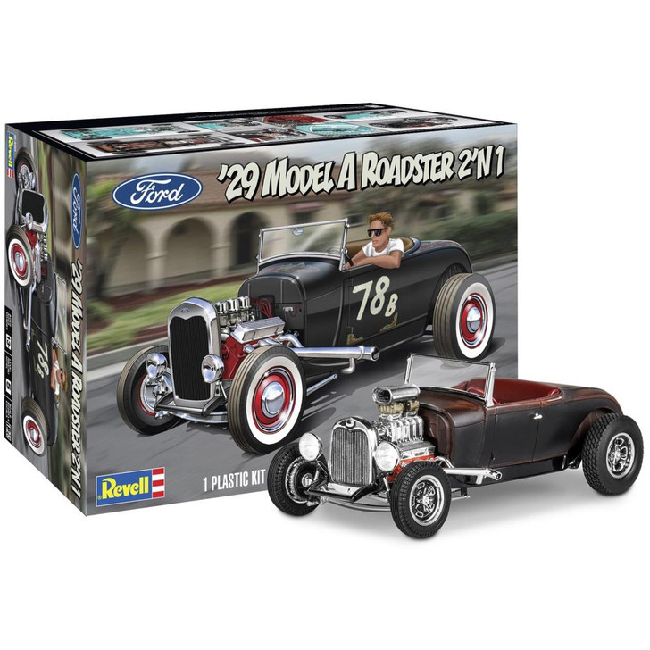 Revell Plastic Model Kit - 1929 Ford Model A Roadster 2n1