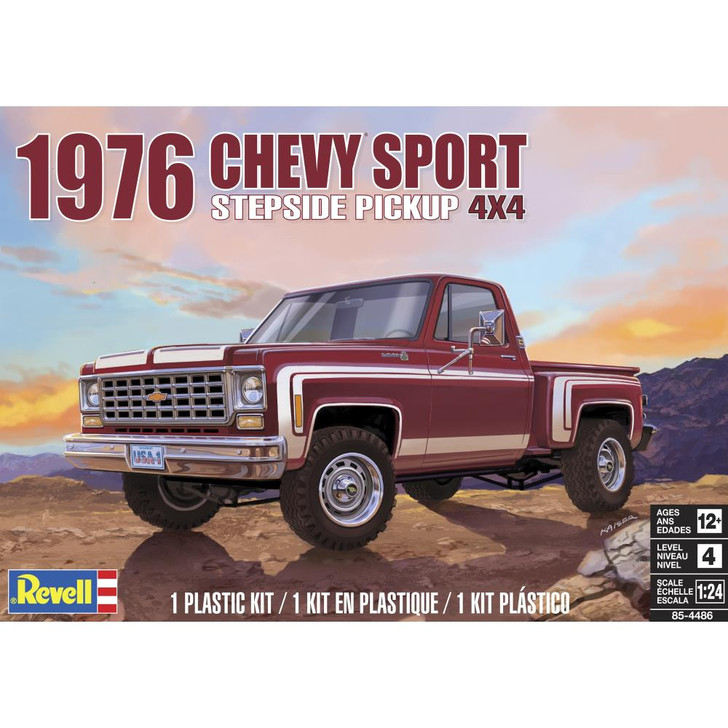 Revell Plastic Model Kit - 76 Chevy Sport Stepside Pickup 4X4