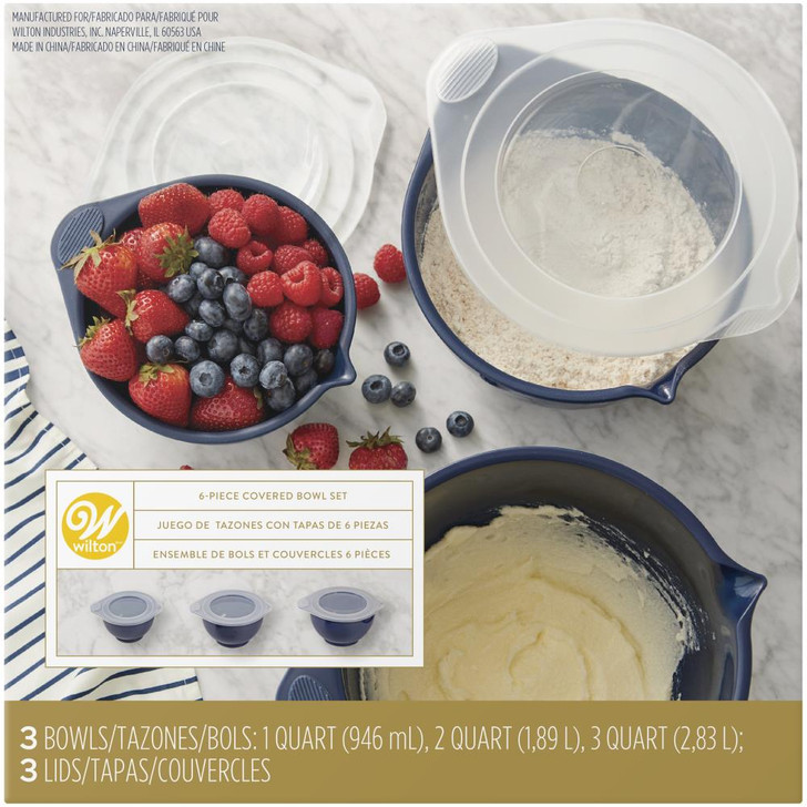 Wilton Covered Bowl Set 6/Pkg