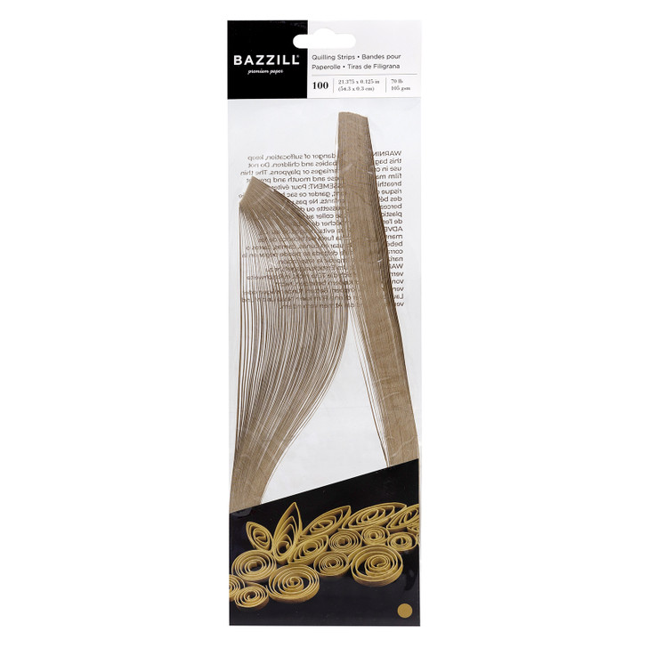 Bazzill Quilling Strip Paper Pack 100/Pkg - Gold