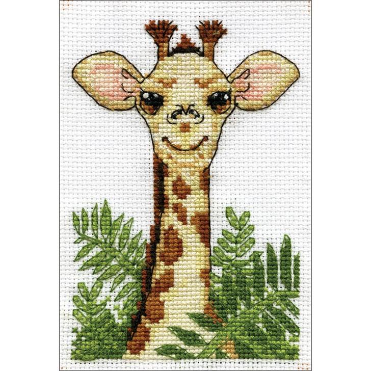 Design Works Stitch & Mat Counted Cross Stitch Kit - Giraffe