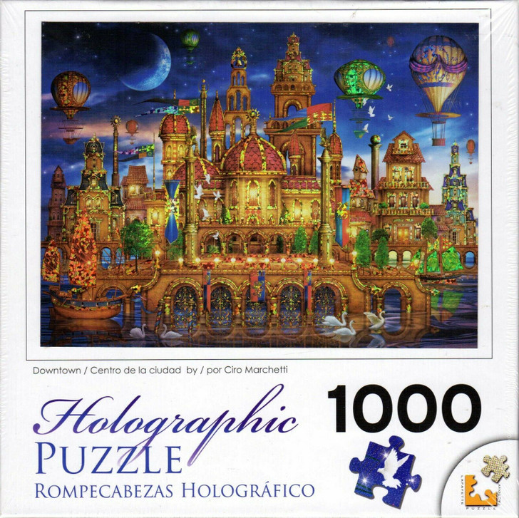 Cra-Z-Art 1000 Pc. Holographic Jigsaw Puzzle - Downtown