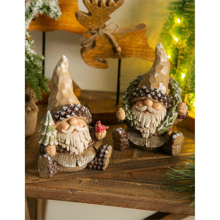 Evergreen Ent. Woodland Holiday Gnomes 2/Pkg