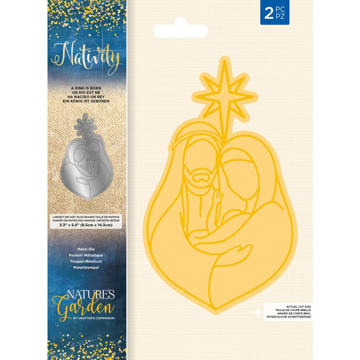 Crafter's Companion Nature's Garden Nativity Die - A King Is Born