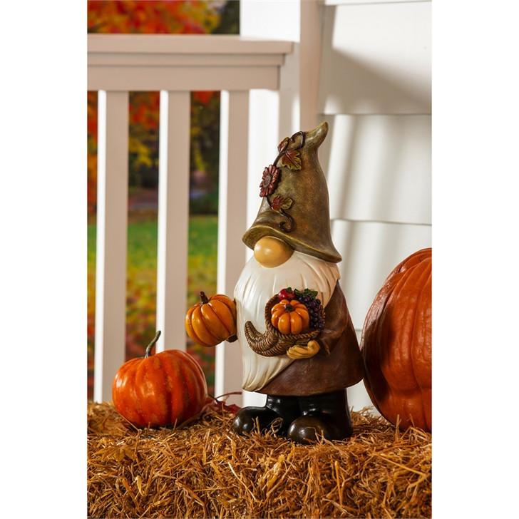 "Evergreen Ent. 16.5""H Harvest Gnome Garden Statue"