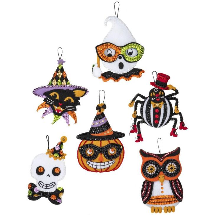 Bucilla Vintage Halloween Felt Applique Ornaments Kit